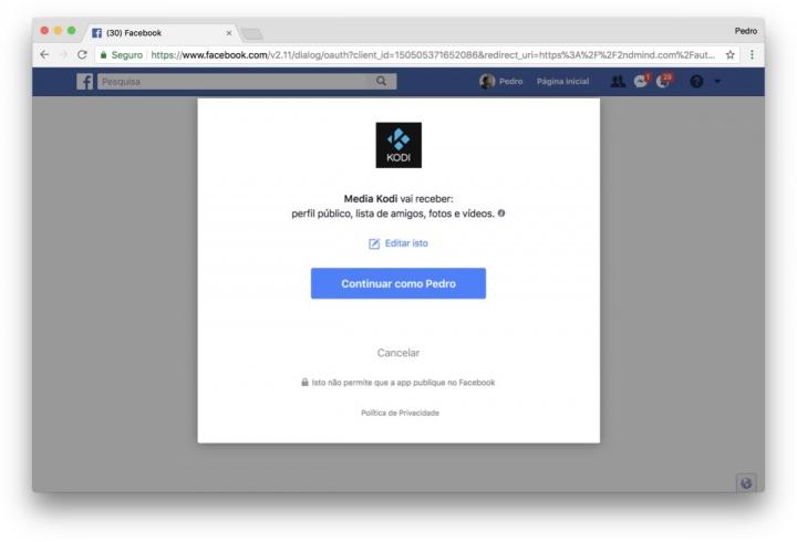 Kodi Facebook