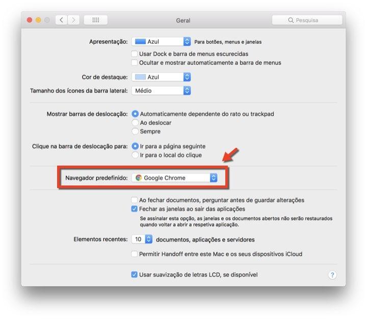 macOS browser