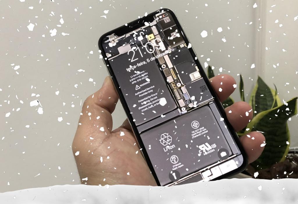 Nevar no seu ecrã do iPhone