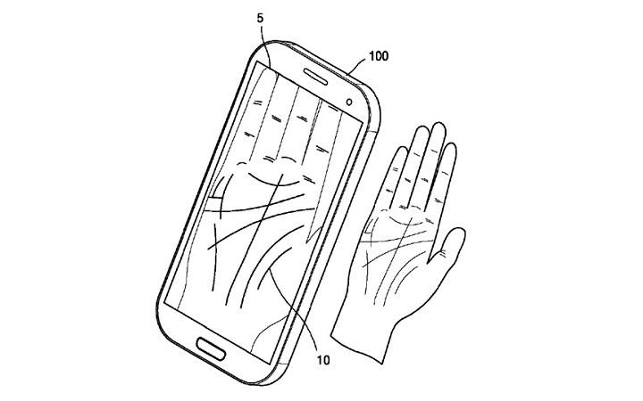 samsung - desbloqueio com a palma da mão
