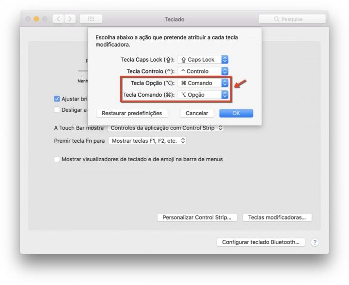 macOS teclado