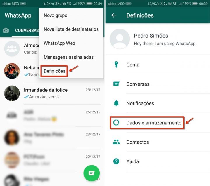 WhatsApp espaço