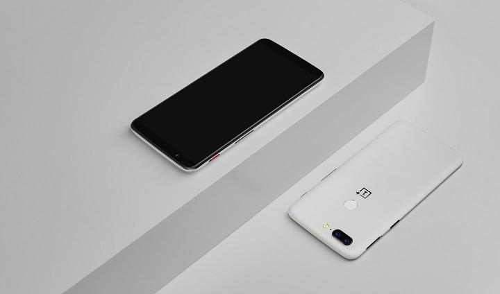OnePlus 5T edição Sandstone branca 3