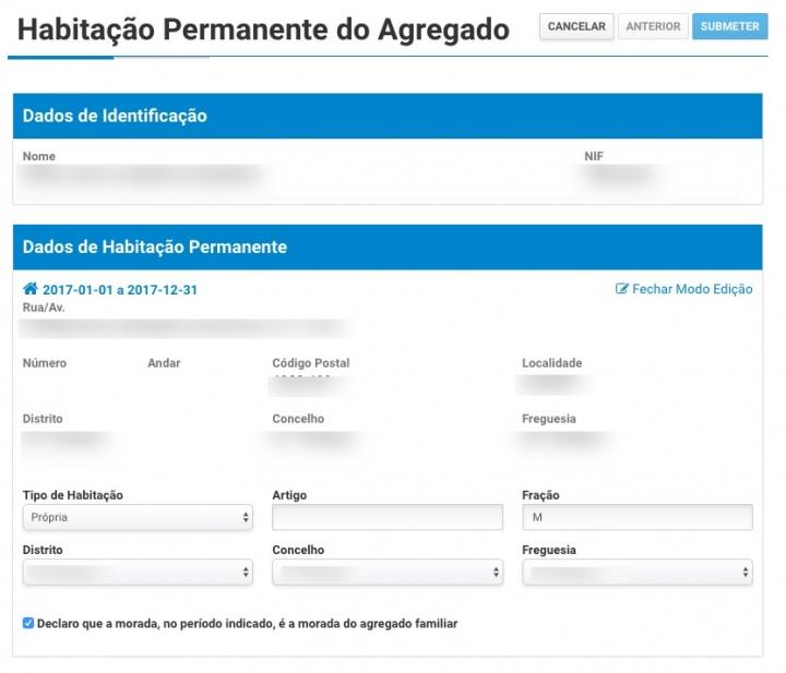Portal das Finanças já permite atualizar dados do agregado familiar