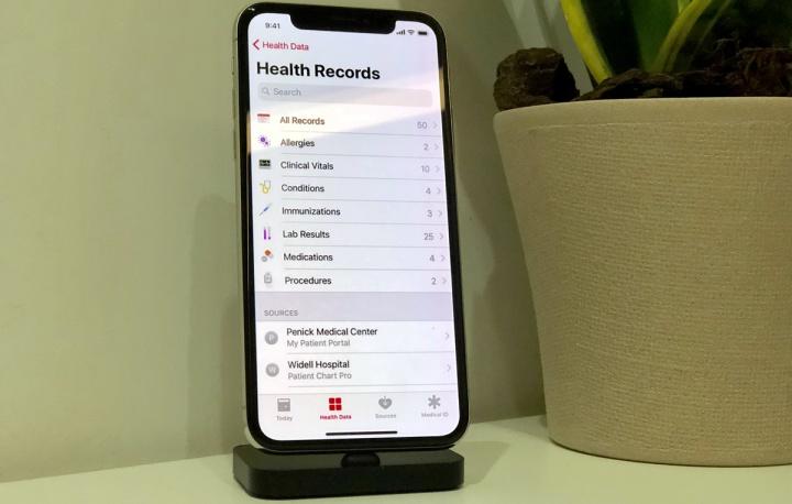 Imagem da nova app Saúde no iOS 11.3