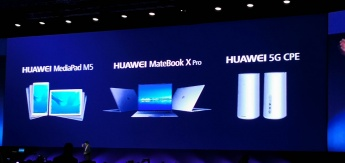 Huawei Matebook X e MediaPad M5
