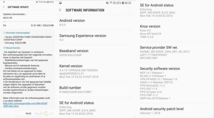 Android Oreo Galaxy S8