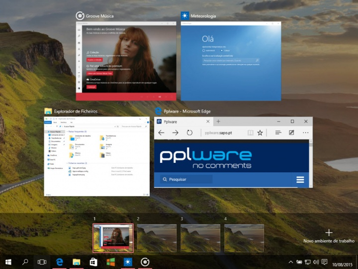 Imagem desktop Windows 10