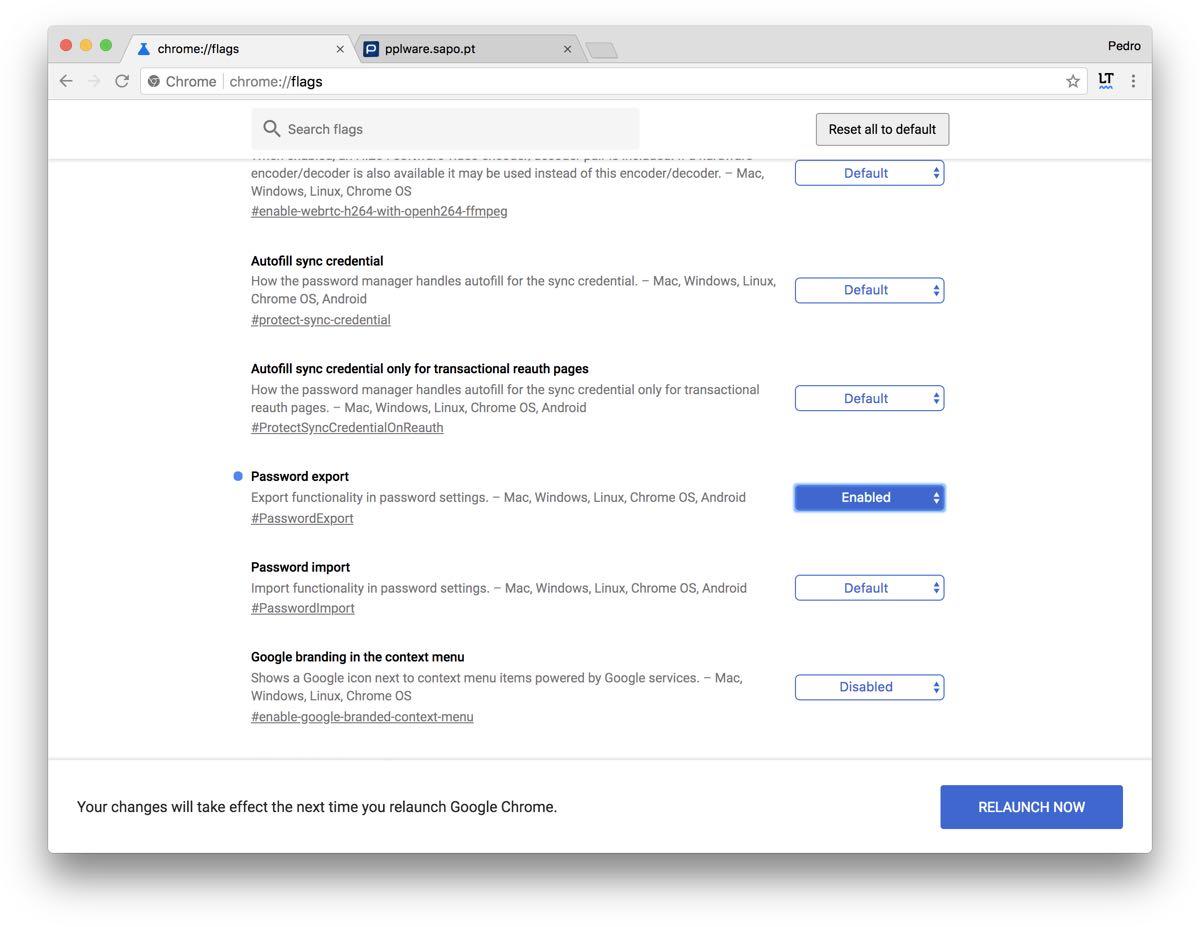 Já sabe como exportar palavras-passe do Chrome? - Pplware