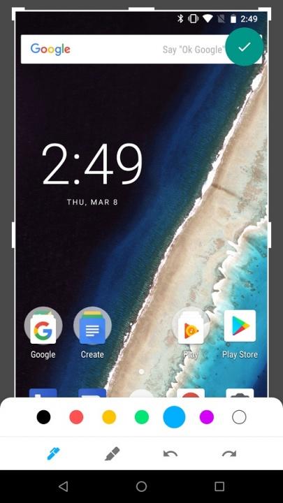 markup edição screenshots android p
