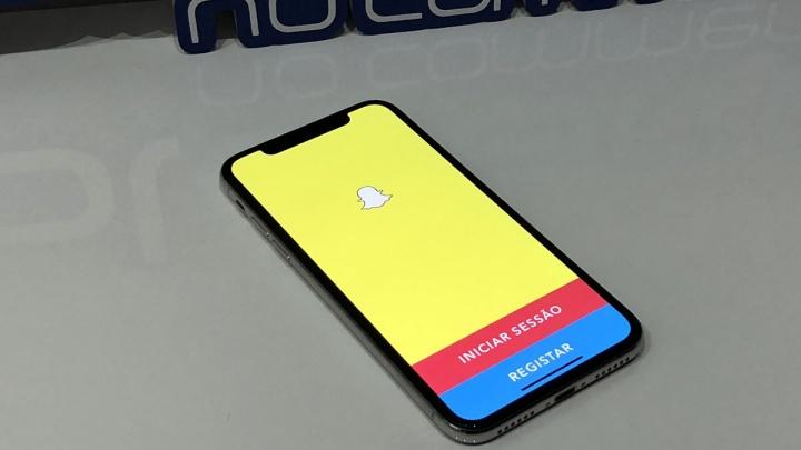 SnapChat no iPhone X