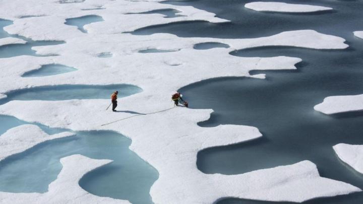 Frio vem do Ártico quente