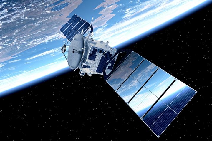 satélite ilustra a rede Starlink