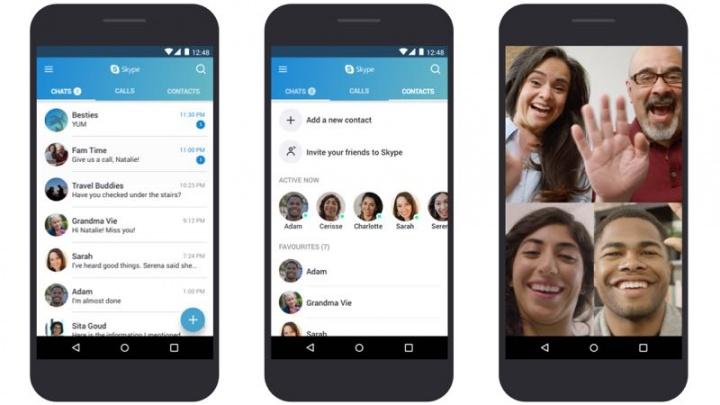 Skype Android Microsoft app bug falha
