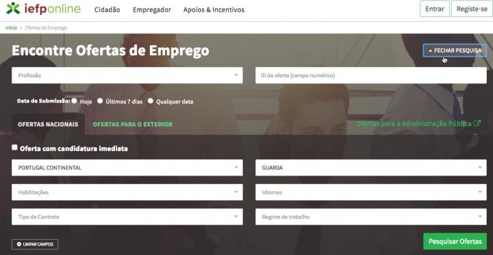 IEFP-Interface do Portal