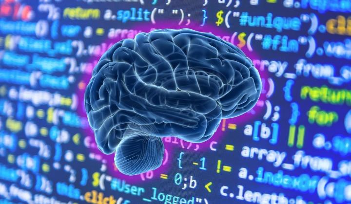 Ilustração de programador com inteligência artificial