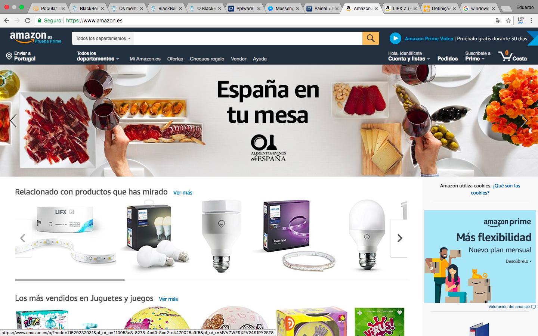 8609af0471 O site está todo em espanhol mas poderá usar uma extensão de tradução do  seu browser para o auxiliar ou até mesmo realizar todas as suas compras em  espanhol ...