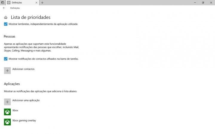 Windows 10 Auxiliar de concentração Atualização de abril
