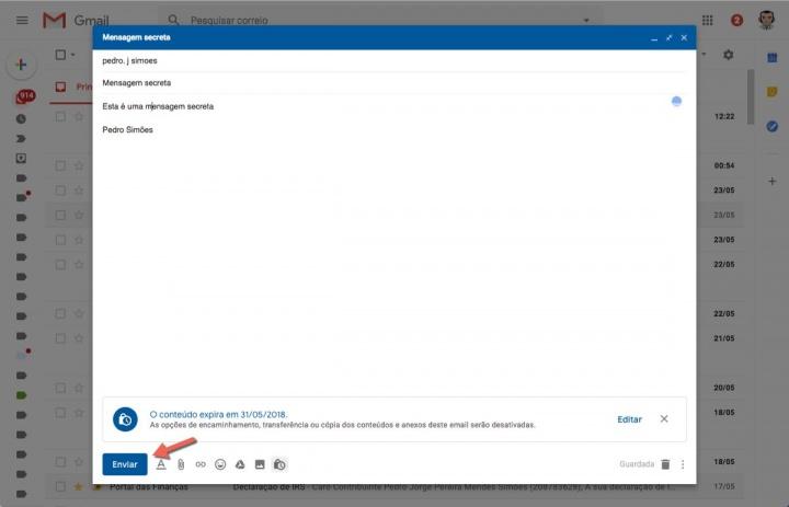 modo confidencial Google Gmail