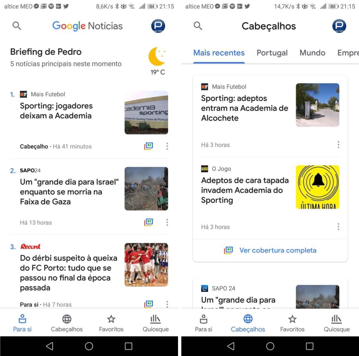 Google Notícias surge renovado e já o pode testar no Android e iOS 3dcaf5f59416f