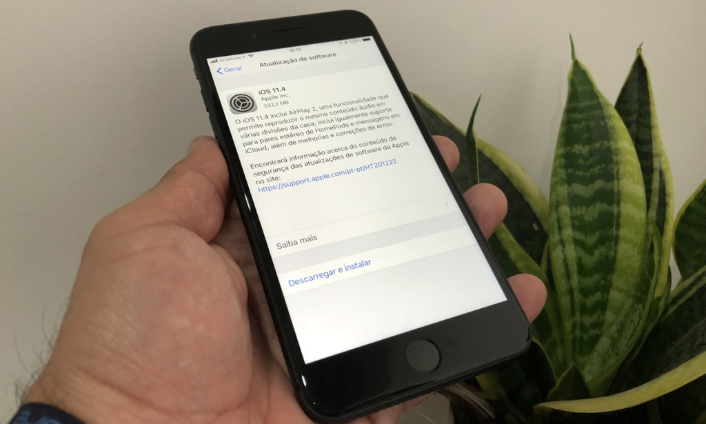 Apple lança iOS 11.4