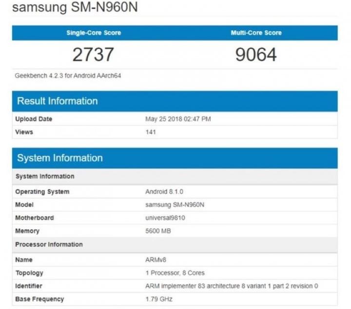Galaxy Note9 Samsung