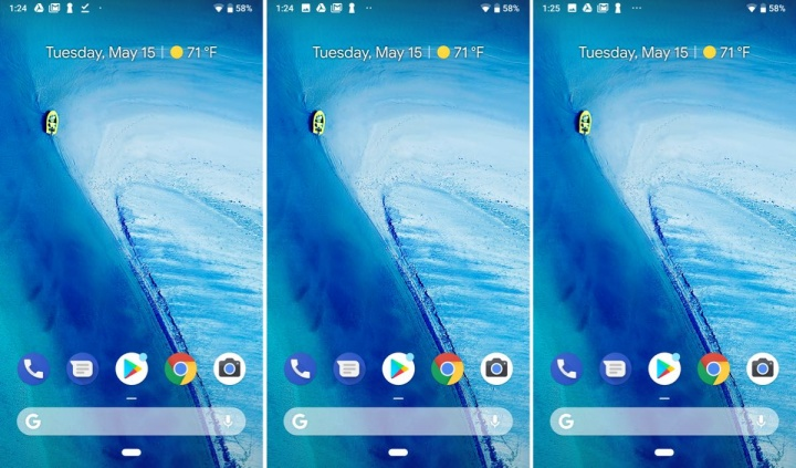 notch Pixel 3 Google Android P