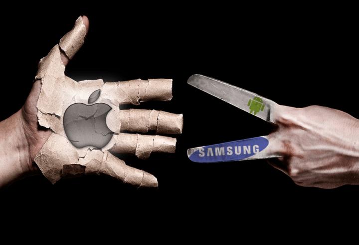 Apple quer mil milhões de dólares da Samsung