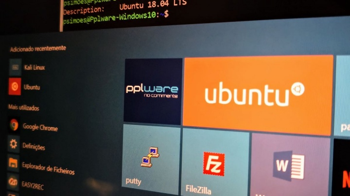 Windows 10 Microsoft Linux Menu Iniciar privacidade