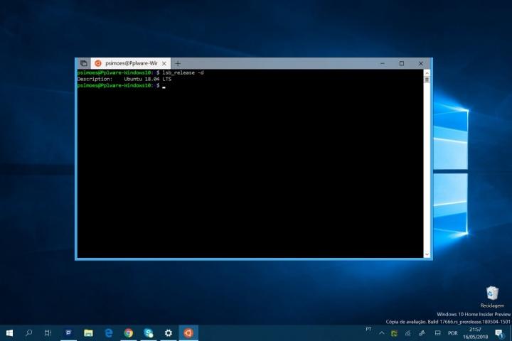 Windows 10 Ubuntu 18.4 Microsoft atualização Linux