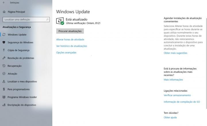 Windows 10 Atualização de abril Microsoft