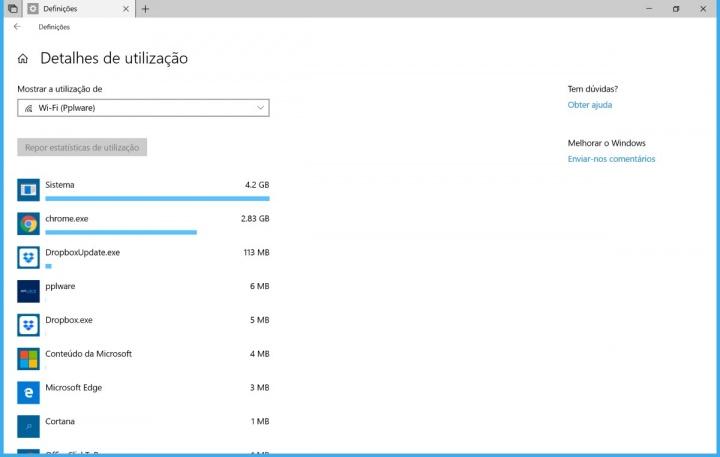 Windows 10 consumos Internet