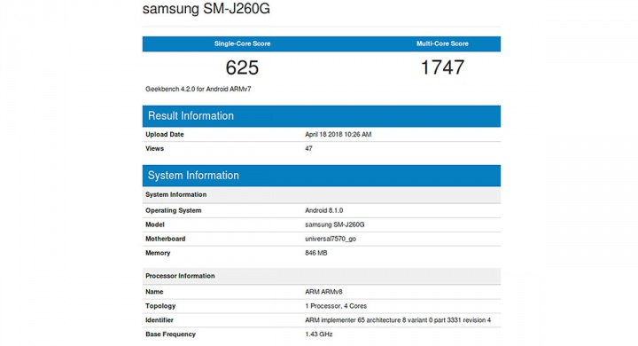 android bench samsung android go