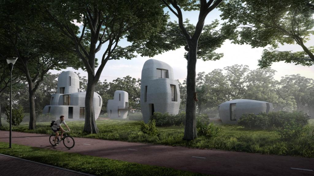 Imagem do projeto das casas fabricadas com impressoras 3D