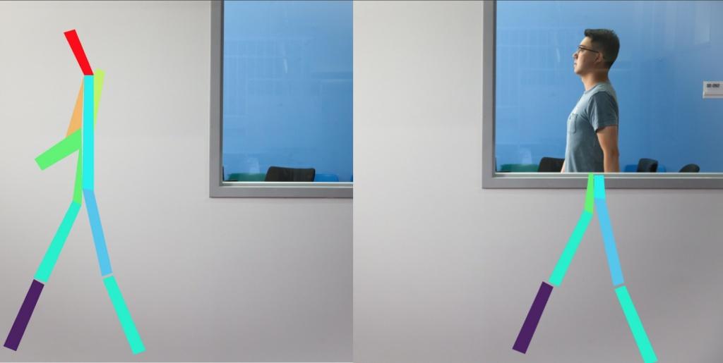 Exemplo de como visão de raio-x, com recurso a redes sem fios e inteligência artificial permite ver através das paredes