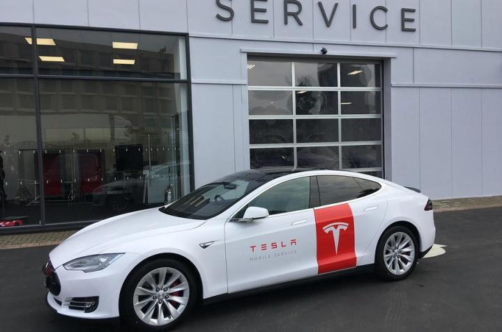 Serviço de assistência móvel Tesla
