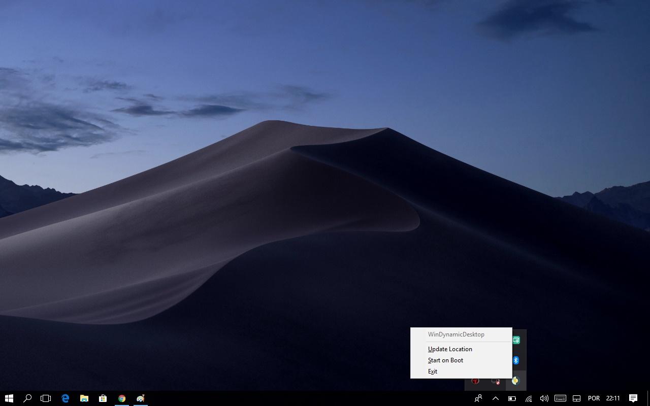 WinDynamicDesktop - Tenha o Mojave Dynamic Desktop do macOS