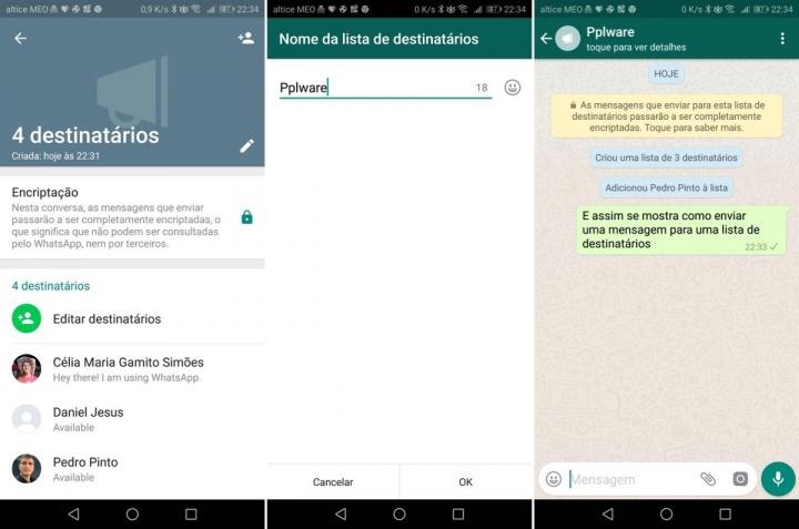 WhatsApp mensagem contactos dica