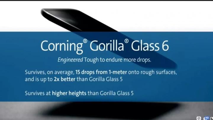 Gorilla Glass 6 Corning ecrã vidro proteção