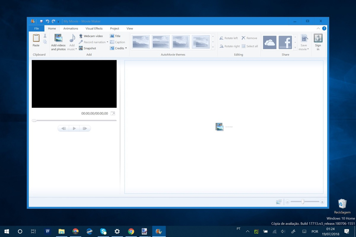 how to use windows live movie maker windows 10