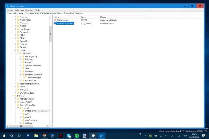 Windows Defender Microsoft Windows 10 segurança atualização
