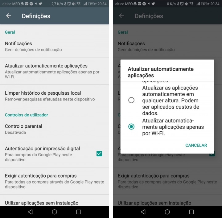 Android automatismos dica