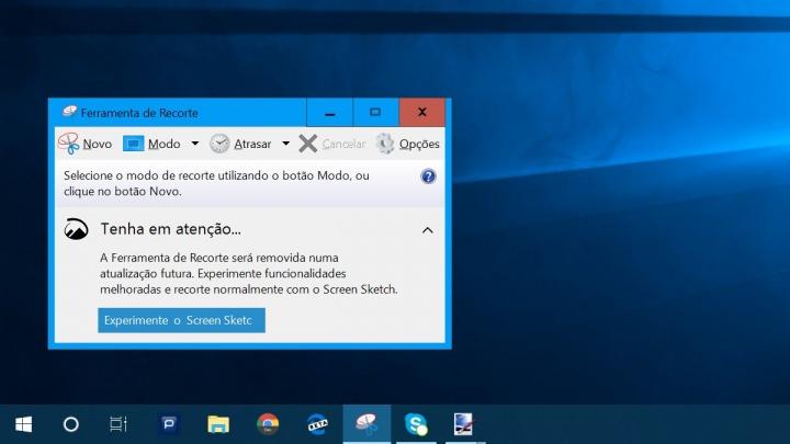 Ferramenta de Recorte Windows 10 Redstone 5 Screen Sketch