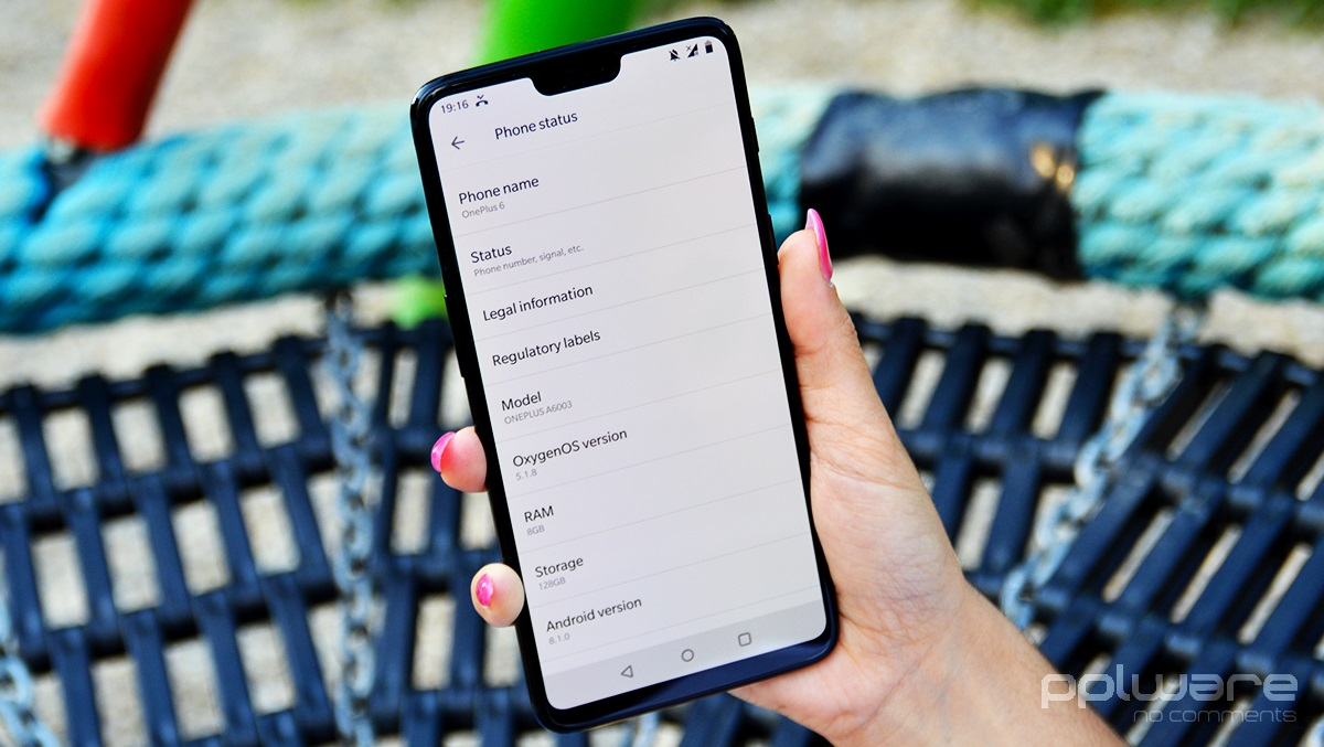 Android 9.0 Pie OnePlus 6 OxygenOS 9.0 smartphone