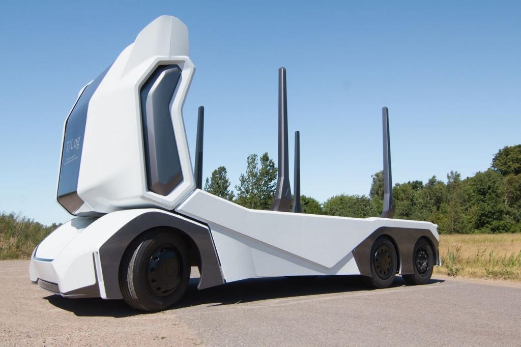 Imagem T-Log, camião elétrico e autónomo