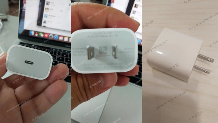 mini carregador USB-C de 18W da Apple para o novo iPhone 2018