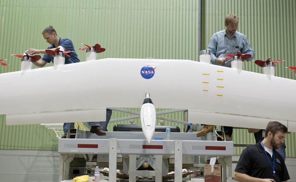 Imagem avião elétrico da NASA