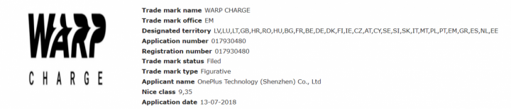 warp charge - oneplus substitui dash charge