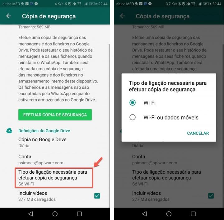 WhatsApp poupar dados dicas