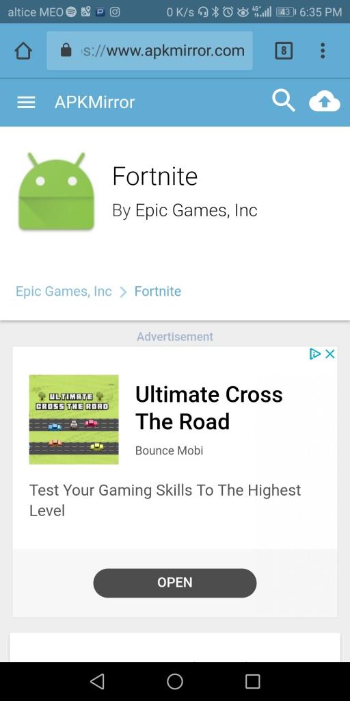 Epic Games Fortnite jogo Internet